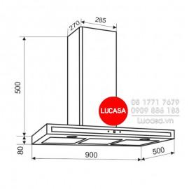 Máy Hút Mùi Gắn Tường Faster QUATTRO LUX 70-90SL-70cm