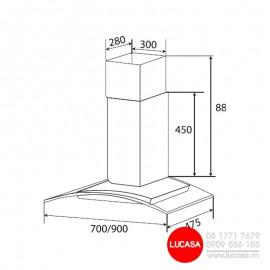 Máy Hút Mùi Kaff KF-GB905 - 90cm