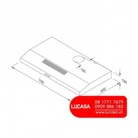Máy Hút Mùi Malloca CLASSIC H365.7B - 60cm