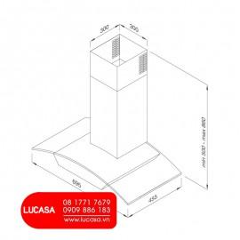 Máy Hút Mùi Malloca MC 7018HS - 70cm