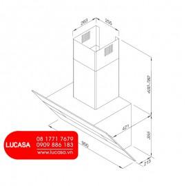 Máy Hút Mùi Malloca MC-9003 - 90cm