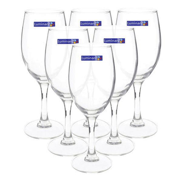 Bộ 6 Ly Rượu Vang Thủy Tinh Luminarc MultiRaindrop H5703 - 350ml